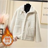 L-4XL羊羔毛外套~胖妹妹大碼外套~胖妹妹秋冬新款加絨加厚外套女2193.R26衣時尚