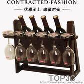 創意紅酒架家用紅酒杯架倒掛高腳杯架歐式葡萄酒架子酒櫃裝飾擺件igo「Top3c」