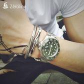 手鍊 歐美風維京戰手鐲男士霸氣鈦鋼個性潮人莫比烏斯菱形情侶開口手環