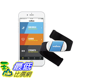 [106美國直購] Wahoo TICKR Heart Rate Monitor 偵測器 for iPhone & Android