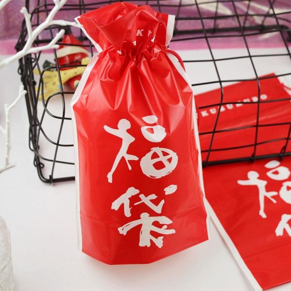 【BlueCat】中國風大紅福袋束口袋 禮物袋 收納袋