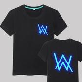 艾倫沃克DJ短袖純棉夜光T恤Alan Walker 同款Faded電音夏季男女潮 麗人印象 免運