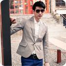 加大尺碼 M~3L 質感素面造型口袋設計西裝外套(二色)【ML11】