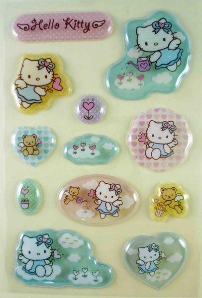 【震撼精品百貨】Hello Kitty 凱蒂貓~KITTY立體貼紙-3D天使澆花