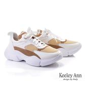 ★2019秋冬★Keeley Ann輕運動潮流 異材撞色輕量老爹鞋(白色) -Ann系列