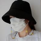 彩色鍊條笑臉口罩鍊