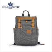 【COLORSMITH】BG.中型質感方形後背包.BG1325-GY-M