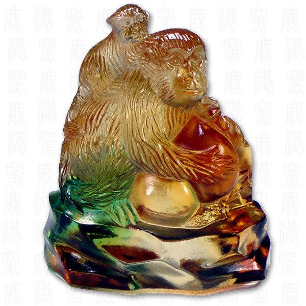 居家開運水晶琉璃文鎮-正氣浩然含座-附精美包裝◆免運費送到家