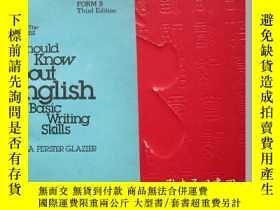 二手書博民逛書店英文版the罕見least英語基礎寫作技巧的初步知識Y20525