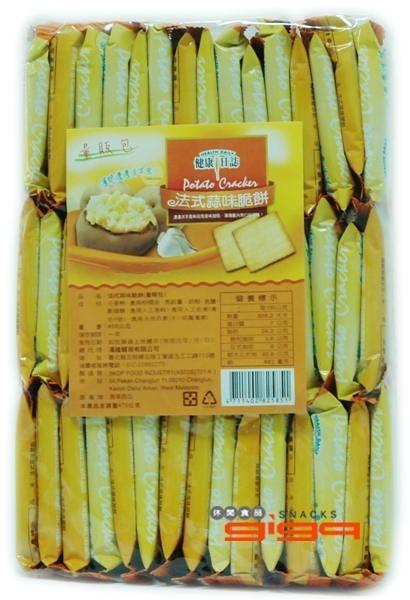【吉嘉食品】健康日誌脆餅(蒜味) 每包408公克[#1]{4711402825851}
