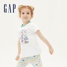 Gap女幼棉質舒適圓領短袖T恤539803-義大利