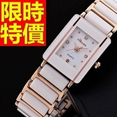 陶瓷錶-大方個性清新女手錶4色55j17[時尚巴黎]