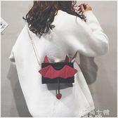 搞怪小包包搞怪小包包女款韓版小魔鬼可愛小方包鏈條單肩側背包潮 海角七號