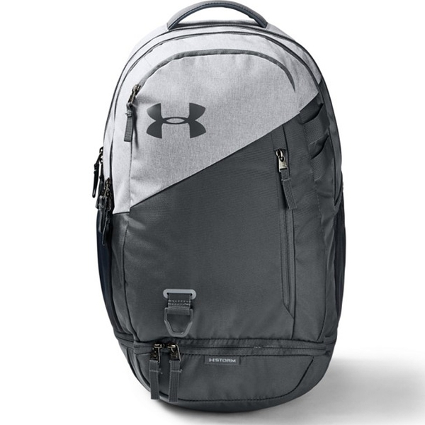 UNDER ARMOUR Hustle 4.0 後背包 雙肩 電腦隔層 前置防潑水 底部有口袋 水壺袋 灰【運動世界】1342651-015