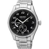 SEIKO 精工 Presage 動力儲存機械錶-黑/40mm 6R27-00J0D(SPB043J1)