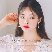 耳環 耳釘純銀女氣質韓國個性百搭魚尾耳環精緻鋯石耳墜超仙耳飾防過敏  瑪麗蓮安