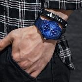 夜光韓版簡約休閒男生手錶男中學生青少年潮流時尚防水尼龍帶男錶 小艾時尚