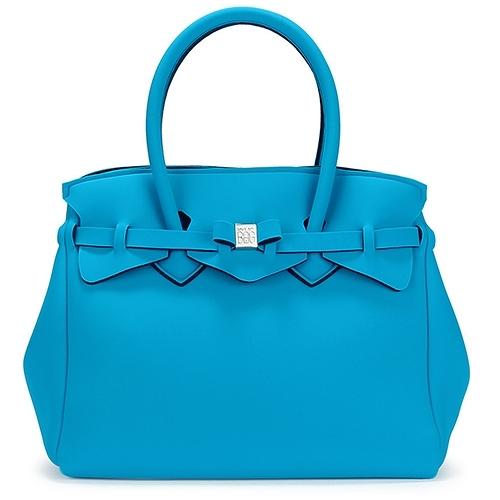 SAVE MY BAG新款Miss系列簡約輕量防水托特包(孔雀藍)280001-3