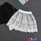 內搭襯裙 蕾絲裙半身裙短裙外穿秋冬女新款百搭單層透視內搭網紗打底裙襯裙寶貝計畫 上新