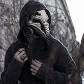 萬圣節蒸汽朋克中世紀瘟疫醫生cos人烏鴉長鳥嘴發光面具男女面罩 薇薇