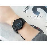 柒彩年代˙低調配色型男全黑手錶 雙圈造型簡約刻度【NE783】單支價格