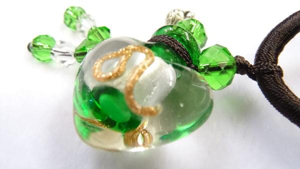 【Ruby工作坊】NO.36G綠精油瓶中國結項鍊