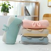 旅行枕頭-便攜小枕頭乳膠記憶棉辦公室學生午睡枕單人多功能慢回彈旅行趴枕 提拉米蘇