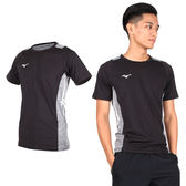 MIZUNO 男排球短袖T恤 (免運 短T 短袖上衣 訓練 美津濃≡排汗專家≡