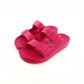 輕量 一體成型 兩段式休閒拖鞋《7+1童鞋》D044 桃色