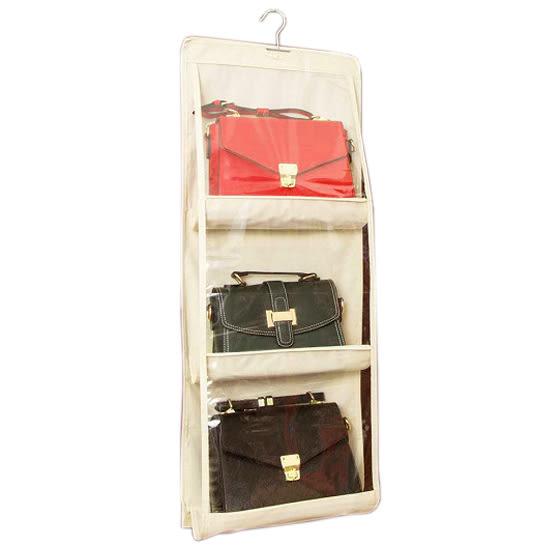收納袋 掛式 整理袋 收納袋 包包收納 防塵袋 分類 置物 立體 雙面六格收納掛袋 【Z038】MY COLOR