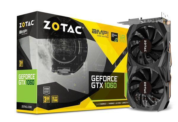 ZOTAC GeForce GTX 1060 3GB AMP Core Edition【刷卡含稅價】