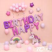 派對裝飾品/兒童周歲生日布置氣球套餐寶寶百天卡通字母鋁膜氣球派對裝飾用品 TC原創館