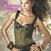 Chasney Beauty-豹紋B-C蕾絲外穿馬甲