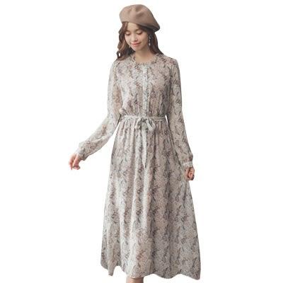 東京著衣【YOCO】柔美飄逸沁涼荷葉領花布雪紡洋裝-S.M.L(181469)