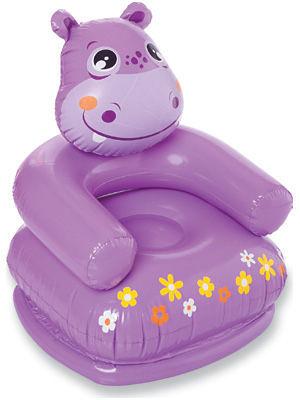 [衣林時尚] INTEX 動物造型充氣沙發 充氣椅 河馬 65x64x75cm 68556