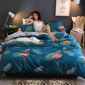 純棉四件套全棉被套歐式學生宿舍單人床單三件套簡約1.8M床上用品