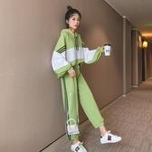 休閒運動服套裝女春秋季新款韓版學生女裝寬鬆連帽衛衣兩件套夏季新品