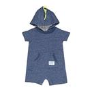 男寶寶短袖兔裝 純棉連帽連身衣 深藍恐龍 | Carter s卡特童裝 (嬰幼兒/baby/新生兒)