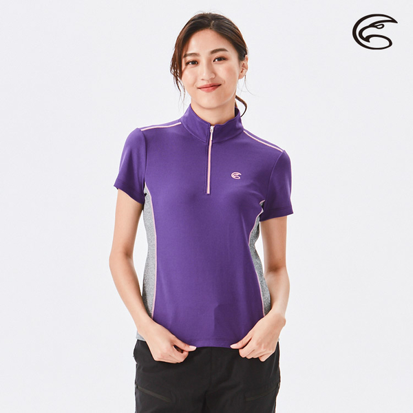 ADISI 女半門襟涼感智能纖維速乾短袖上衣AL2111143 (S-2XL) / 吸濕排汗 快乾 單向導濕 涼感 排汗衣