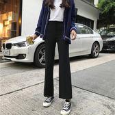 新款韓版高腰休閒褲女百搭寬鬆黑色西裝褲直筒闊腿微喇叭褲子  凱斯盾數位3C