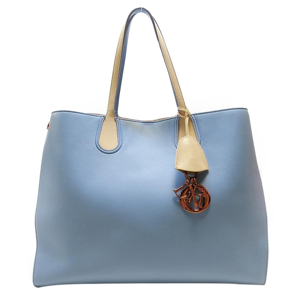 Dior 迪奧 藍色x膚色牛皮肩背包 Addict Shopping Tote Bag【二手名牌BRAND OFF】