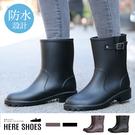 [Here Shoes]晴雨兩穿靴舒適柔...