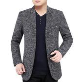西裝外套春秋季小西裝男外套修身薄款上衣青中年休閒單西韓版男士西服 曼慕衣櫃
