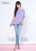 Victoria 異材質拼接上衣-女-淺紫