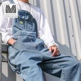 2020春季男士背帶褲潮牌寬鬆工裝闊腿褲連體牛仔褲男女老爹吊帶褲‧衣雅