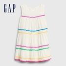 Gap女幼時尚撞色邊飾無袖洋裝576339-光感亮白