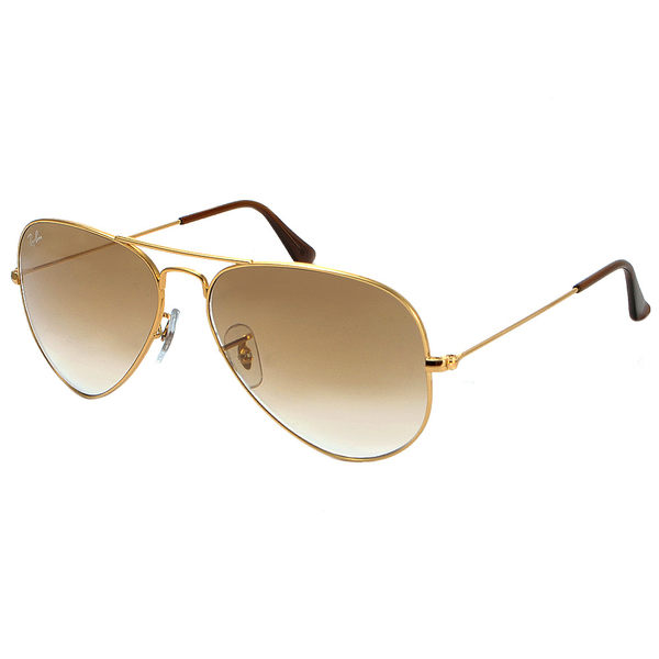 台灣原廠公司貨-【Ray-Ban 雷朋 太陽眼鏡】3025-001/51-62-強化玻璃鏡片(金邊-漸層棕鏡面-大版)