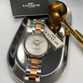 星晴錶業-COACH蔻馳女錶,編號CH00005,34mm銀錶殼,金銀色錶帶款
