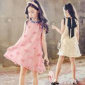 女童洋裝夏裝新款韓版大兒童夏季洋氣公主裙子小女孩童裝潮  麥琪精品屋