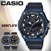 CASIO手錶專賣店 MWC-100H-2A 俐落指針男錶 樹脂錶帶 黑X藍 防水100米